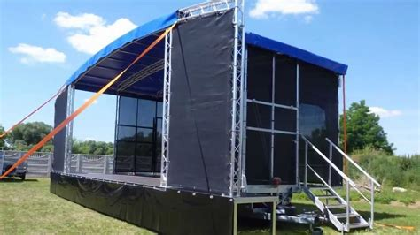 mobil stage lumex mobile stage arcum x48 8x6 profiled roof pa
