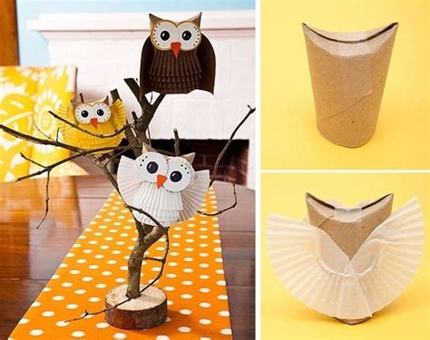 How To Make Paper Owls - how to make an adorable paper owl diy tutorial alldaychic