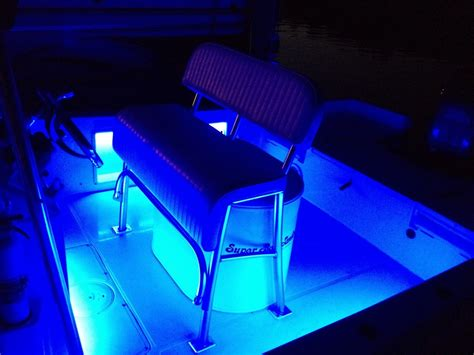 A Little Led Quot Bling Bling Quot Smith Mountain Striper Club How To Install Led Lights In Boat