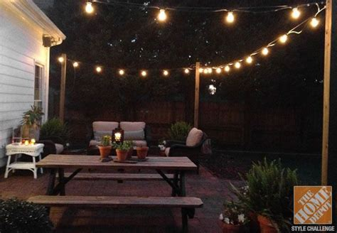 patio string lighting outdoor string lights posts quanta lighting