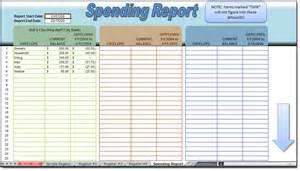 Spending Report Template by Envelopes Check Register Spreadsheet Moneyspot Org