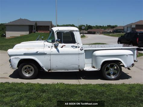 short bed trucks 1958 chevrolet apahce short bed step side truck
