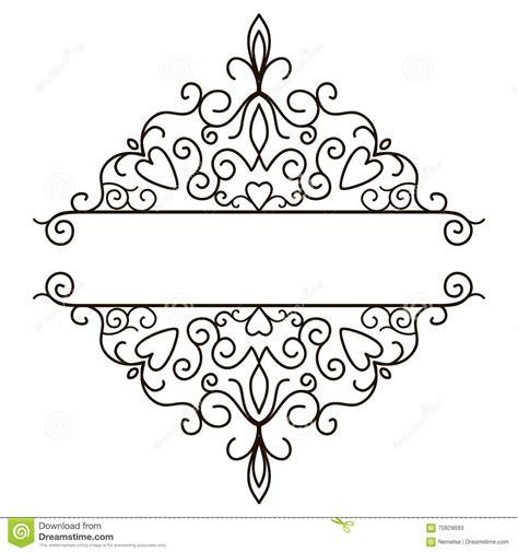 border decorative vintage elements elegant page border designs