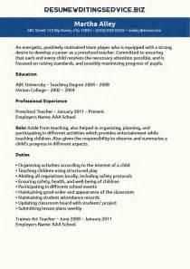 Preschool Teacher Sample Resume preschool teacher resume sample resume writing service