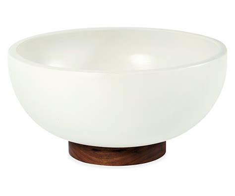 room and board planters study bowl planter with walnut base planters accessories room board house furniture