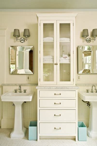 cabinet between bathroom sinks 17 best images about vanity on pinterest bathroom vanity