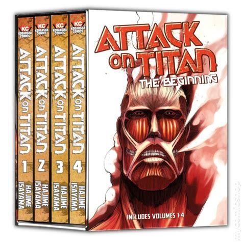 attack on titan set attack on titan gn 2012 kodansha digest comic books