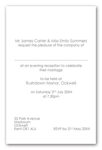 and groom wedding invitation wording wedding invitation wording wedding invitation wording evening only