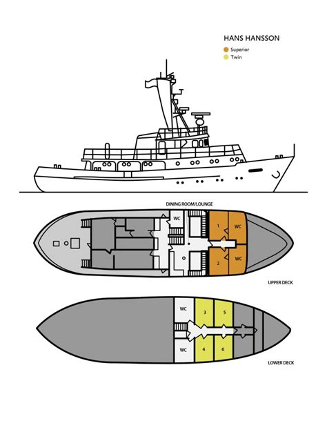 ship floor plan hans hansson quark expeditions