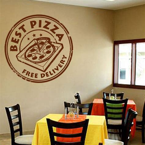 Poster Wall Decor Pizza Popular Food Decal Buy Cheap Food Decal Lots From China