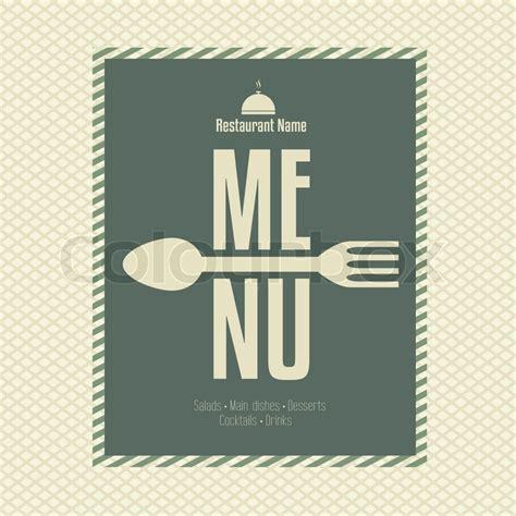 Karten Design Vorlagen restaurant menu card design vorlage vektorgrafik