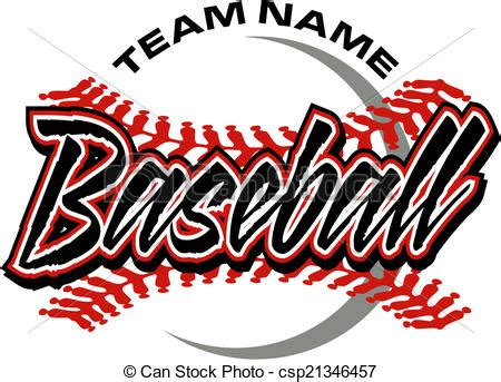 baseball design with red stitches clipart vector search