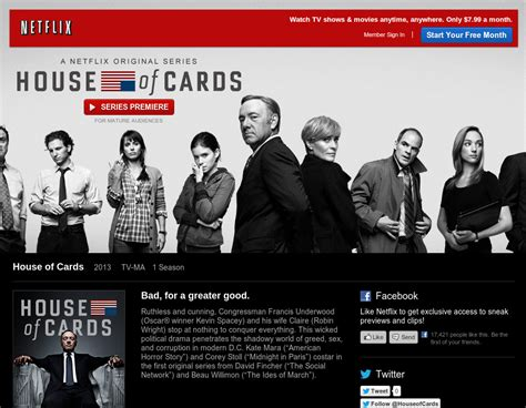 is house of cards on netflix the first episode of the touted house of cards is free on netflix softpedia