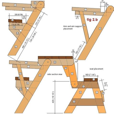 picnic bench plans free 14 best images about folding picnic tables on pinterest