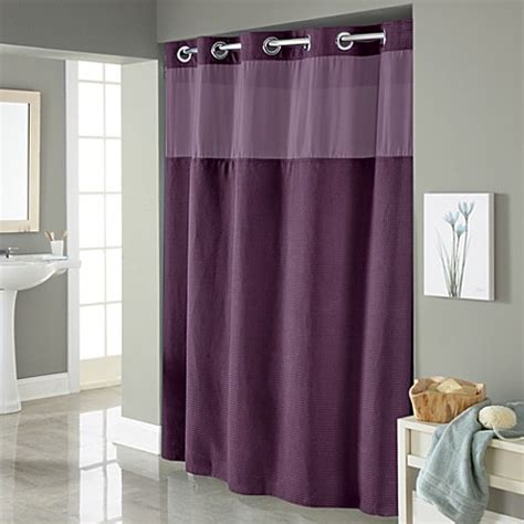 long hookless shower curtain buy hookless 174 waffle 71 inch x 86 inch long fabric shower