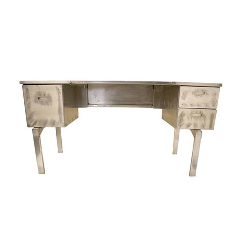 Modern Folding Desk by Vintage Industrial Mid Century Modern Aluminum Folding