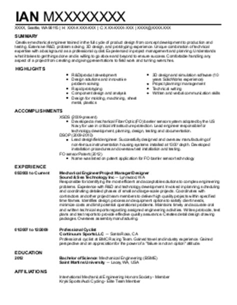 Gas Turbine Operator Sle Resume by Resume Mechanical Technician And Gas 28 Images Rotating Equipment Engineer Sle Resume Click
