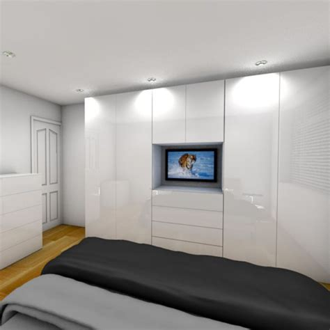 Fitted Wardrobes With Tv Space by Design