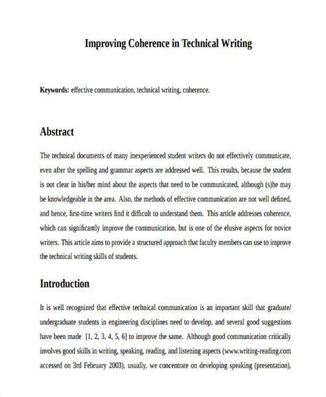 abstract writing examples samples    word apple pages google docs
