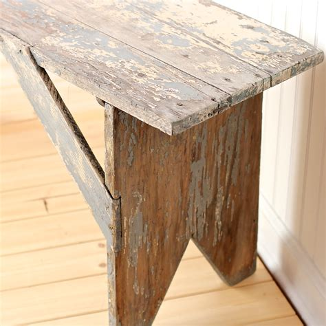 Rustic Vintage Antique Wood Farmhouse Bench Or Coffee Table