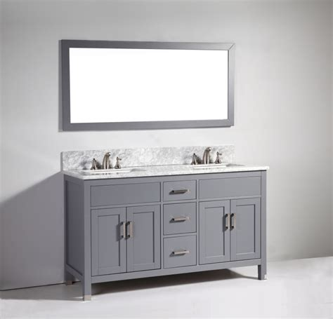 dark grey bathroom vanity 60 inch modern double sink vanity in dark gray uvlfwa6260dg