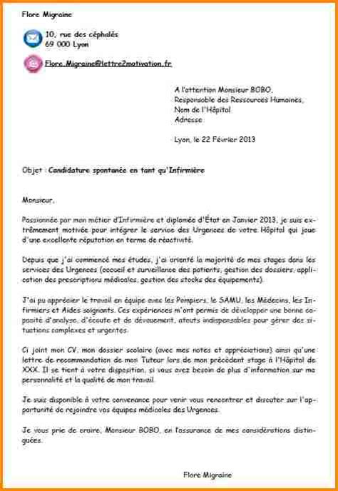Exemple De Lettre De Motivation Candidature Spontan E Pour La Mairie modele de lettre de motivation spontan 233 e simple