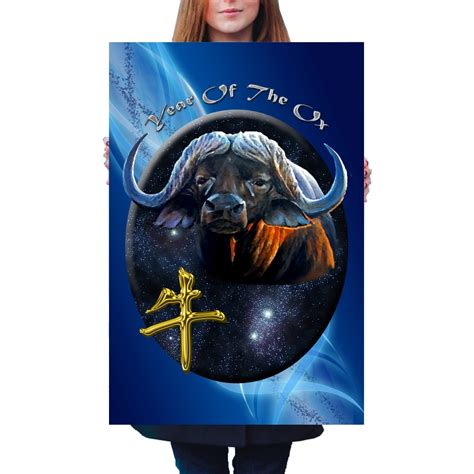 new year 2016 year of the ox zodiac year of the ox poster blue streak designs