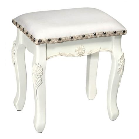 vintage antique white dressing table stool free delivery