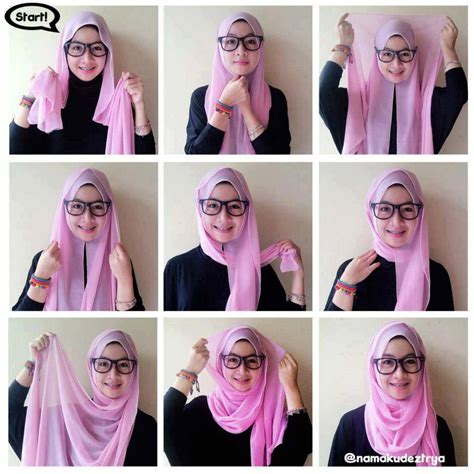 tutorial hijab dua warna kreasi jilbab paris segi empat simple hairstylegalleries com