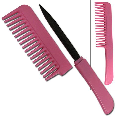 womens knives pink comb with knife