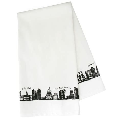 New York Skyline Tote Bag From Fishs Eddy by 212 Skyline Dishtowel Ny土産ならフィッシュ エディ Fishs Eddy Loved