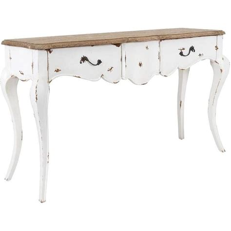White Console Table Decorative Franklin Rustic White Rectangle Console Table