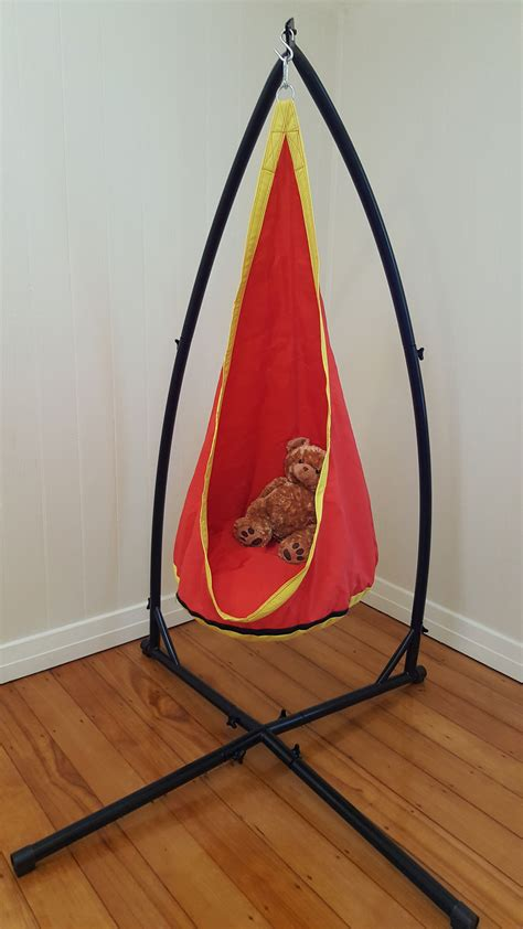 sensory swing with stand red and yellow waterproof sensory swing stand ebay