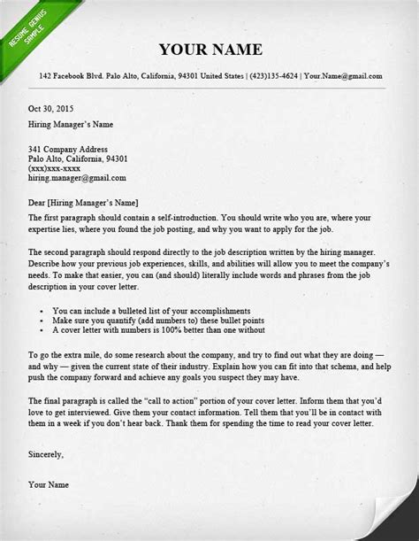 Modern Letter Template 40 Battle Tested Cover Letter Templates For Ms Word Resume Genius