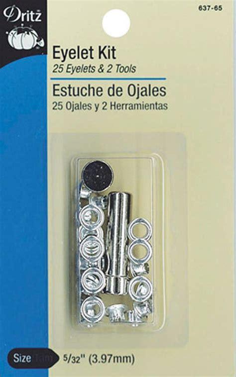 eyelet curtain kit dritz eyelet hand tool kit nickel 5 32 15ct
