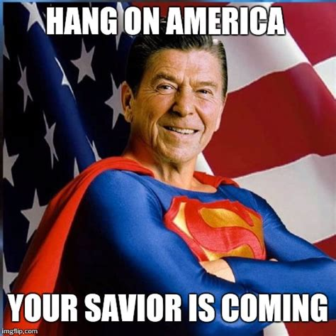 Reagan Meme - ronald reagan superman imgflip