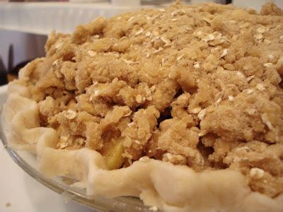 apple crumble pie one lovely life