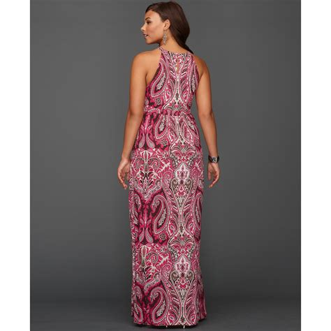 Who Wore It Better Pink Printed Patio Dress by Lyst Inc International Concepts Halter Paisleyprint Maxi