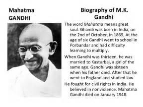 Mahatma Gandhi Biography In Essay by Mahatma Gandhi