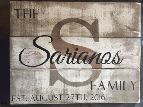 wedding gift name sign custom wood name sign personalized wedding gift pallet last