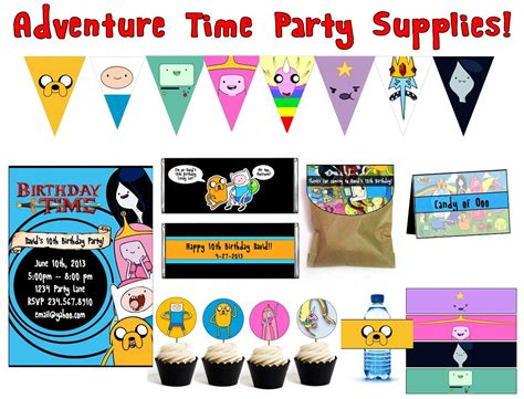 Adventure Time Printable Party Decorations | adventure time party