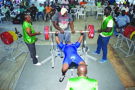 senior bench press records records tumble in senior powerlifting finale guyana times