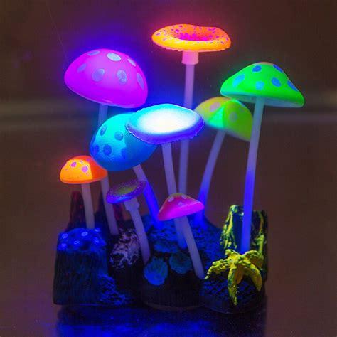 Aquarium Decorations by New Aquarium Ornament Luminous Glowing Mushrooms Fish Tank