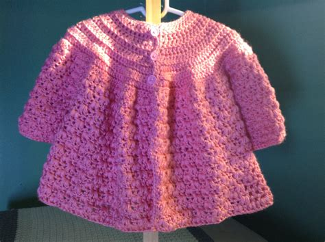 baby cardigan sweater how to crochet baby sweater cottageartcreations