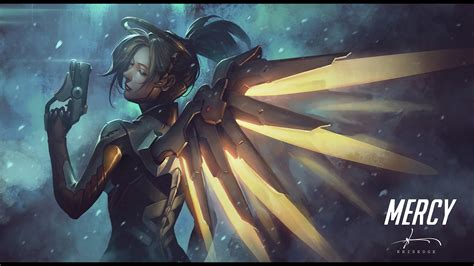 Guardian Mercy Overwatch Beautiful Wallpapers For Mercy Genji And