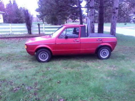 volkswagen rabbit truck custom sell used 84 vw rabbit 4 door custom truck 5 in exaust in