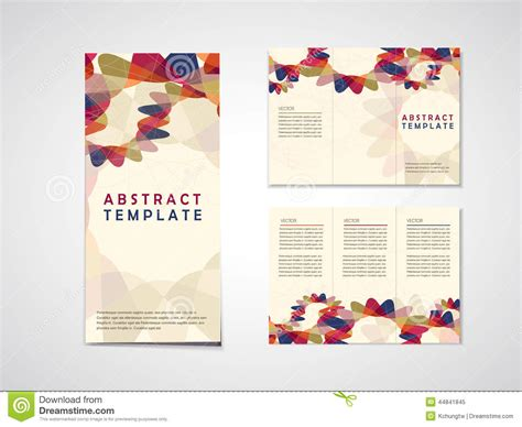 brochure design with trifold colorful template abstract background tri fold brochure template stock