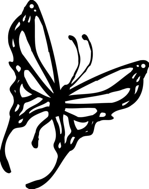 Flying Butterfly Outline by Clip Butterfly Cliparts Co