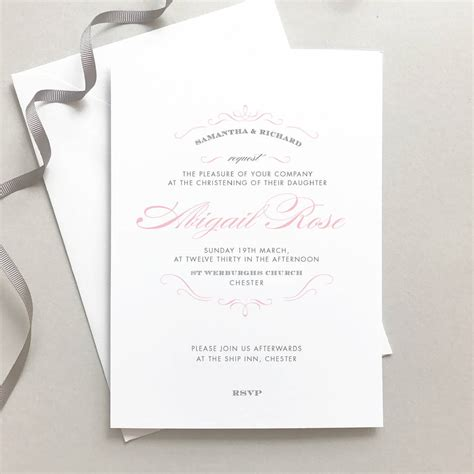 Personalised Invitations by Personalised Christening Invitation By Project Pretty
