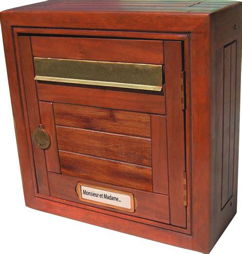 bo 238 tes aux lettres bois normalis 233 e ptt boite aux lettres decoratives en bois usage ext 233 rieur